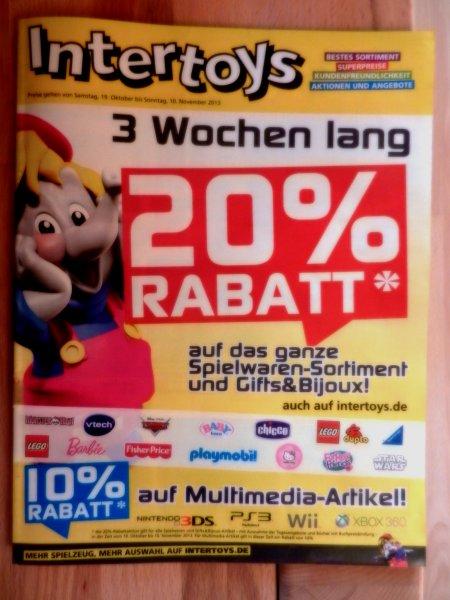 20% Rabatt bei Intertoys ab 19.10. auf Spielwaren