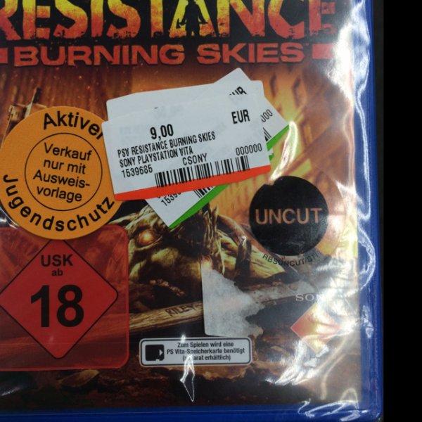 [Lokal?] PS Vita - Resistance Burning Skies