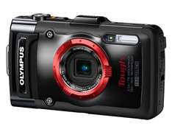 """Olympus TG-2 Digitalkamera (12 MP CMOS-Sensor, 4-x opt. Zoom,  3""""OLED-Display, F2,0 Objektiv, GPS, wasserdicht bis 15 m, kälteresistent, staub-, stoß und bruchgeschützt) schwarz für 266,72 € @Amazon.es"""