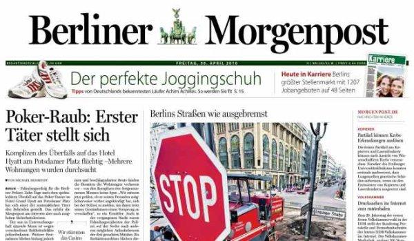 Berliner Morgenpost für effektiv 3,90€ - 1 Monat & selbstendend
