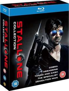 Die  SYLVESTER STALLONE COLLECTION BLU-RAY für 12,95 € @Play.com via Zoverstocks