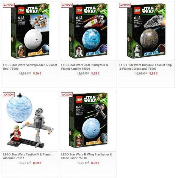 Lego™ - 3x Star Wars: Planeten (75006,75007,75009,75010,75011) ab €20,99 (Stückpreis €7.-) [@Galeria-Kaufhof.de]