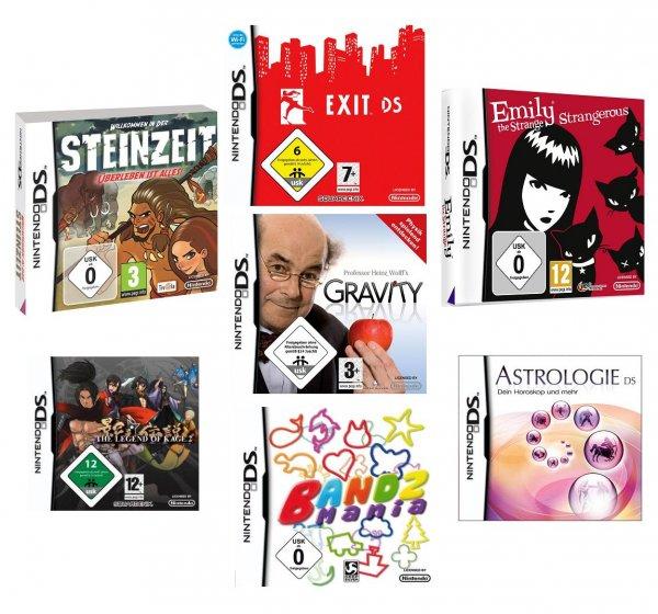 7 Spiele für Nintendo DS für 22,22 Euro inkl. Versand