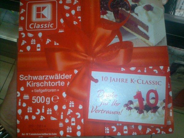 """[Kaufland] Schwarzwälder Kirschtorte """"10 Jahre K-Classic"""" 500g"""