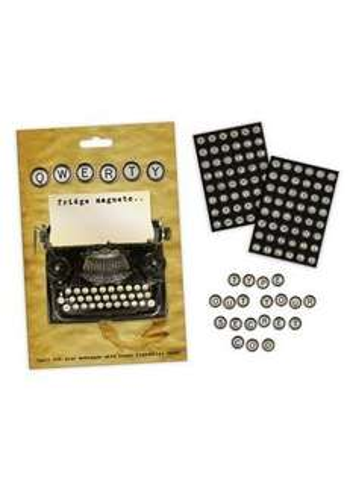 Kühlschrankmagnete - Qwerty - Schreibmaschine