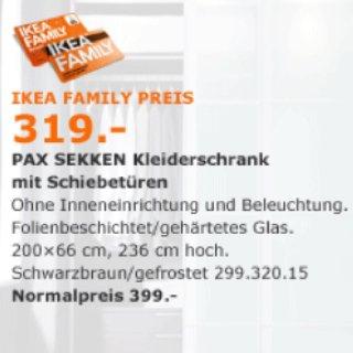 IKEA Pax Kleiderschrank mit Family Card ca. 20 % günstiger