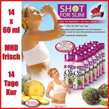 Estocks: Shot for Slim 14 Flaschen für nur 4,99 € inklusive Versand * Mhd 28.10.2013*