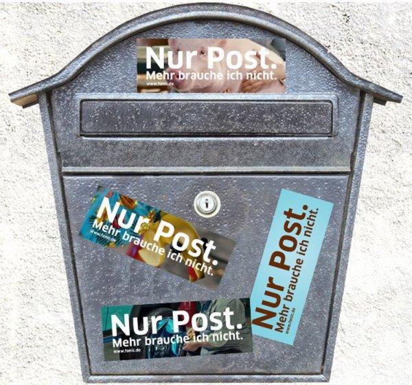 [Facebook] Fan werden und 4 Aufkleber für keine Werbung im Briefkasten, von Fonic.