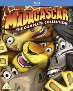 [BLURAY] Madagascar BOXSET (1-3) -> 16,55 € @ZAVVI