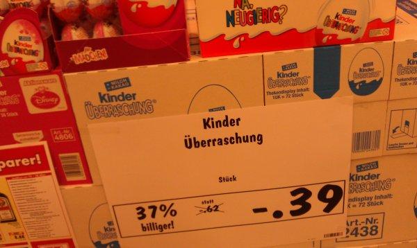 [Kaufland Berlin nur heute] Kinder Überraschung (auch für Mädchen) für 0,39€
