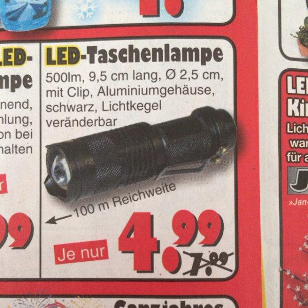 """Offline, Local: Cree LED Taschenlampe für 4,99€ bei """"Jawoll"""" in Garbsen / Region Hannover"""