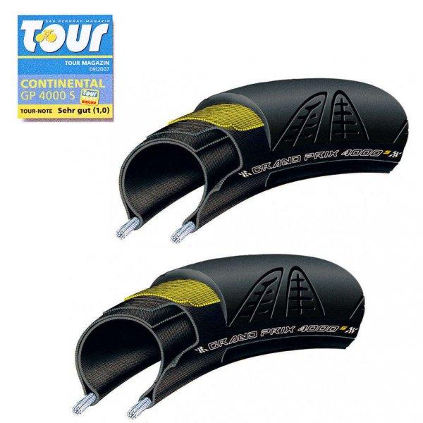 Rennrad Reifen Continental GP4000s 2er Set für 46,94 EUR inkl. Versand