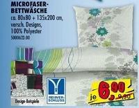 Stylische Microfaser-Bettwäsche auf 6,90€ reduziert