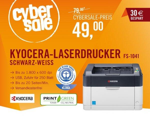 Kyocera Ecosys FS-1041 Laserdrucker - 49 EUR - cyberport/cybersale (versandkostenfrei)