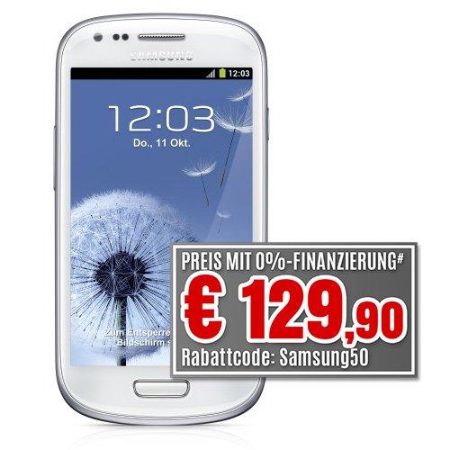 Samsung Galaxy S3 mini GT-I8190 weiß 8GB ohne NFC - EU Ware