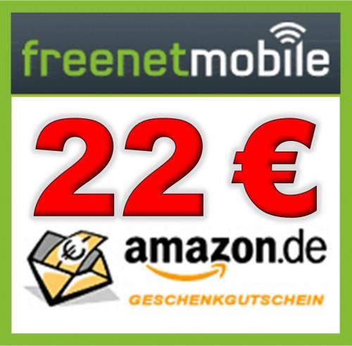 freenetMobile SIM-Karte inkl. 10 € Startguthaben + tolle Prämien (22 Euro Amazon Gutschein)