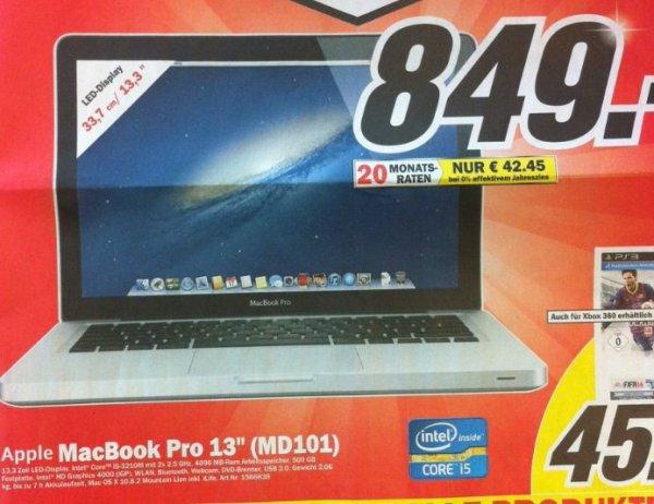[Regional- Hamburg] - MacBook Pro (MD101) für 849,-€