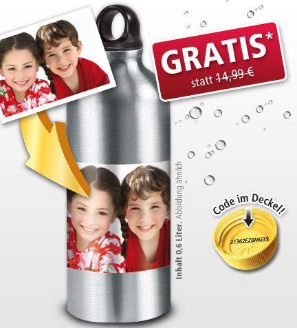 Trinkflasche mit Foto + Punica 1,5l für 6.98 Euro
