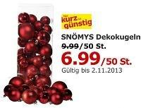 Deko-Weihnachtskugel (50 Stk) bei Ikea auf 6,99€ reduziert