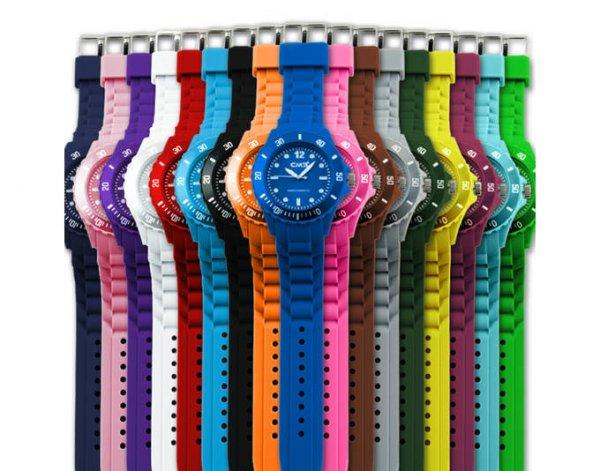 CM3 Silikon Damen Armbanduhr für 3,33€ inkl. Versand mit Ersatzbatterie in 17 Farben