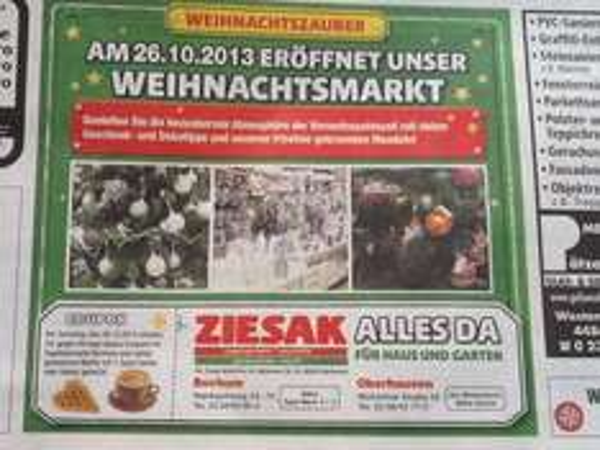 [Lokal Bochum] Ziesak Hagebaumarkt Gratis Waffel und Kaffee oder Kakao am 26.10.2013