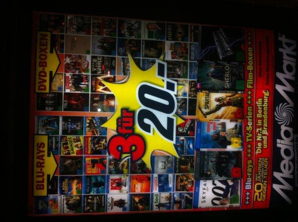 [Lokal Berlin?] Media Markt 3 für 20,00 € auf Blu-Rays und DvD-Boxen