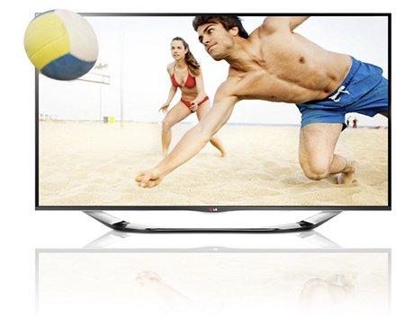 LG 47LA6918 119 cm (47 Zoll) Cinema 3D LED-Backlight-Fernseher, EEK A+ (Full HD, 400Hz MCI, WLAN, DVB-T/C/S, Smart TV) silber für 699€