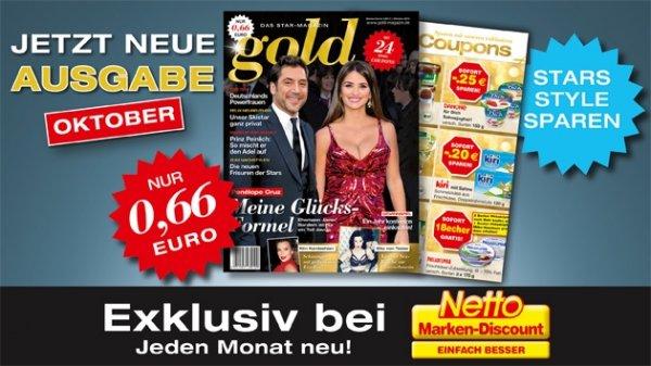 Netto App : Gratis Gold Zeitschrift mit 24 Coupons
