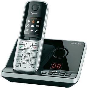 Gigaset SX810A ISDN Schnurlostelefon (4,57 cm (1.8 Zoll) grafisches TFT-Farbdisplay, Anrufbeantworter, Freisprechfunktion, Bluetooth Headset