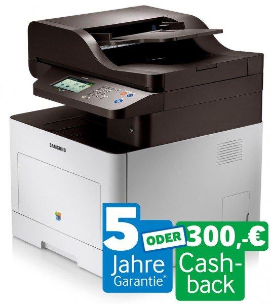 Samsung CLX-6260FW Cashback Aktion - nach Abzug ca. 40% unter Idealo (453€)