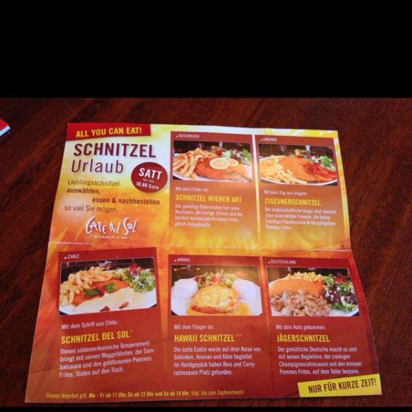 Schnitzel Urlaub All u can eat