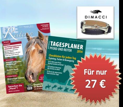 """""""Die Reiterin"""": 6 Hefte für 27 € inkl. 30 € Gutschein für Pferdeartikel"""