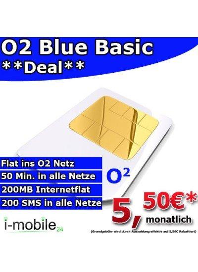 O2 Blue Basic für nur 5,50€ monatlich