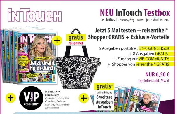 InTouch Miniabo für 6,50€ mit 6,50€ Cashback bei Qipu + Reisenthel Shopper