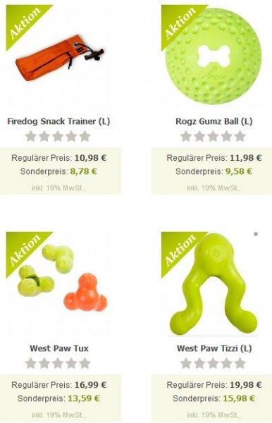 20% Rabatt auf Futterspielzeug für Hunde