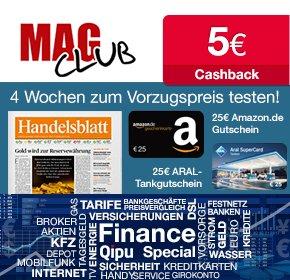 Handelsblatt : 0,23€ € pro Ausgabe [21 Ausgaben für effektiv 4,90€ durch 25€ Amazon. de-Gutschein + 5€ Cashback]