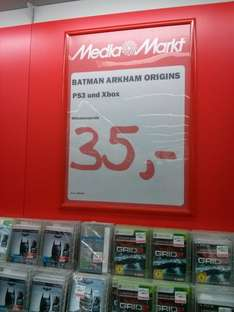 Media Markt Berlin (regional?) Batman: Arkham Origins PS3 & XBox 360 -  35 €