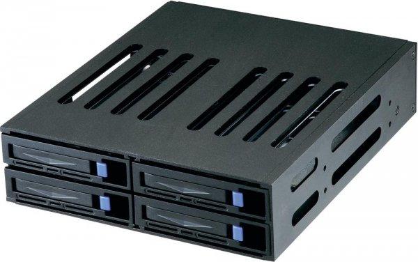 "[Bestpreis] Sunnytek/Jou Jye ST-1040SS schwarz | Festplattenwechselrahmen 4x6,35cm(2,5"") SATA/SAS < 10€/Slot +qipu (auch ohne sofü, da vsk-frei)"