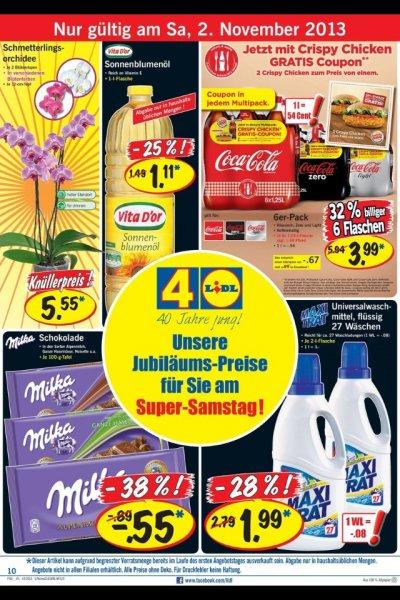 02.11.13 lidl offline milka 0,55€, orchidee 5,55