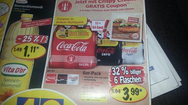 [Lidl Supersamstag] 6x Coca Cola 1,25l für 3,99€ plus Pfand sowie weitere Angebote