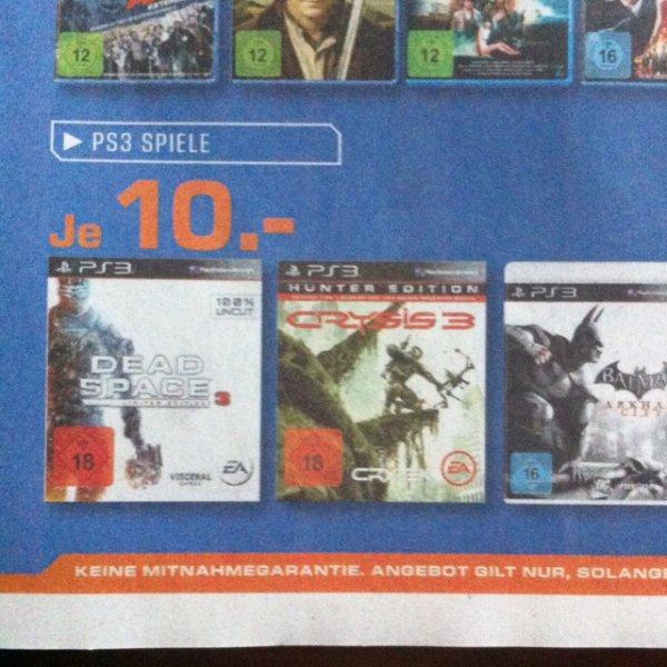 [Lokal] Saturn Solingen - Dead Space 3, Crysis 3, Batman Arkham City (PS3): je 10,00€