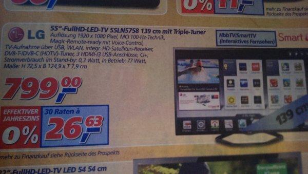 "LG 55""-FullHD-LED-TV 55LN5758 139cm mit Triple-Tuner [Evtl. Lokal - KR]"