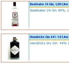 Top-Gin (Literflaschen) - Beefeater 24 / Hendrick's Gin