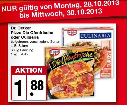 """[Edeka Nord] Dr. Oetker Pizza """"Die Ofenfrische"""" und """"Culinaria"""""""