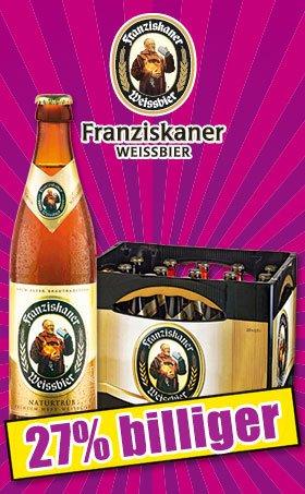 [Bundesweit] Franziskaner Hefe Weissbier bei Norma für 10,80€