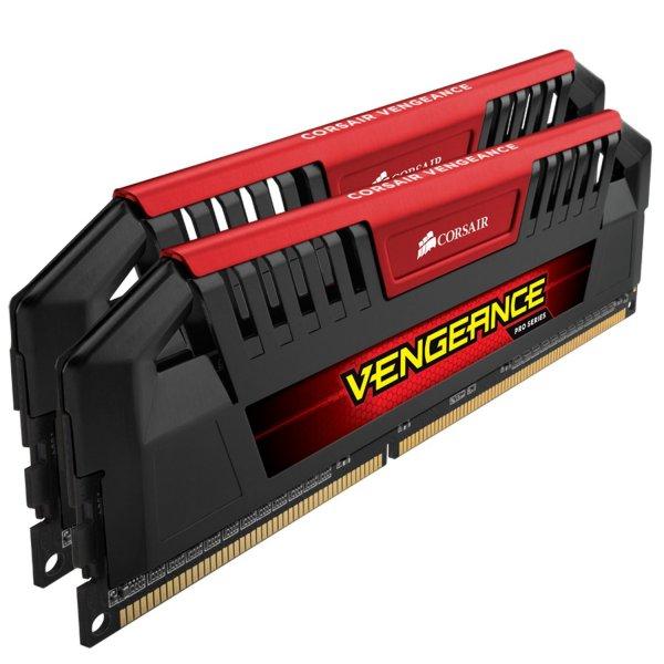 Corsair Vengeance Pro Rot 16GB (2x8GB) DDR3 2400 MHz (PC3 19200) Desktop Arbeitsspeicher (CMY16GX3M2A2400C10R)
