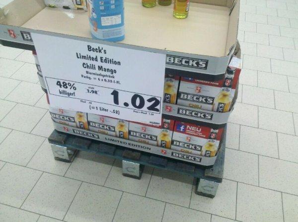 [Lokal Kaufland Salzgitter] Beck's Chili Mango 6er 1,02€ (+0,48€ Pfand) und Dolce Gusto Kapseln 3,33€