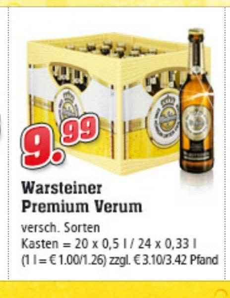 Kiste Warsteiner 20x 0,5 oder 24x 0,33 Liter für 9,99€ bei trinkgut