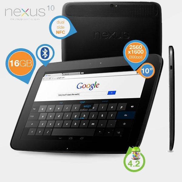 Google Nexus 10 WiFi 16GB  @ibood.de