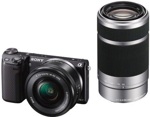Sony NEX-5T Kit 16-50 mm + 55-210 mm (NEX-5TY) + 50% Gutschein für Objektiv bei amazon.fr